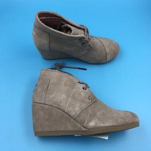 Toms Desert Wedge Boots DR00407 Sz 5 NWOT